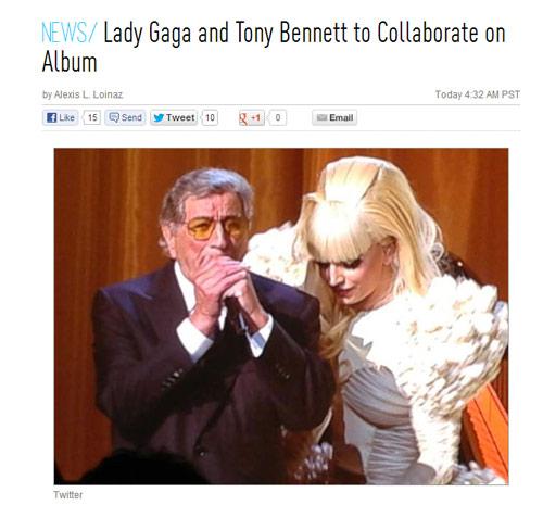 ליידי גאגא תקליט אלבום עם טוני בנט