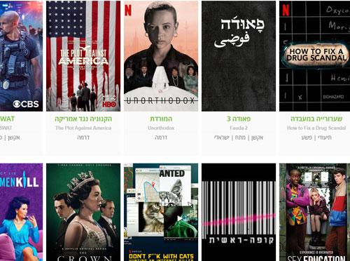 חדש באתר המובייל: עמודי סדרות וביקורות טלוויזיה וסטרימינג